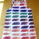 CHANEL 2014 Tunic Top Mini Dress Rainbow Color CC Signature Size 36(Italy) NWOT