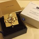 Estee Lauder PRECIOUS GIFT Red Crystal Gold Jewel Compact 2006