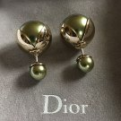 DIOR TRIBALE Mise en Dior TRIBAL Earrings GREEN TULIP SOLD-OUT!