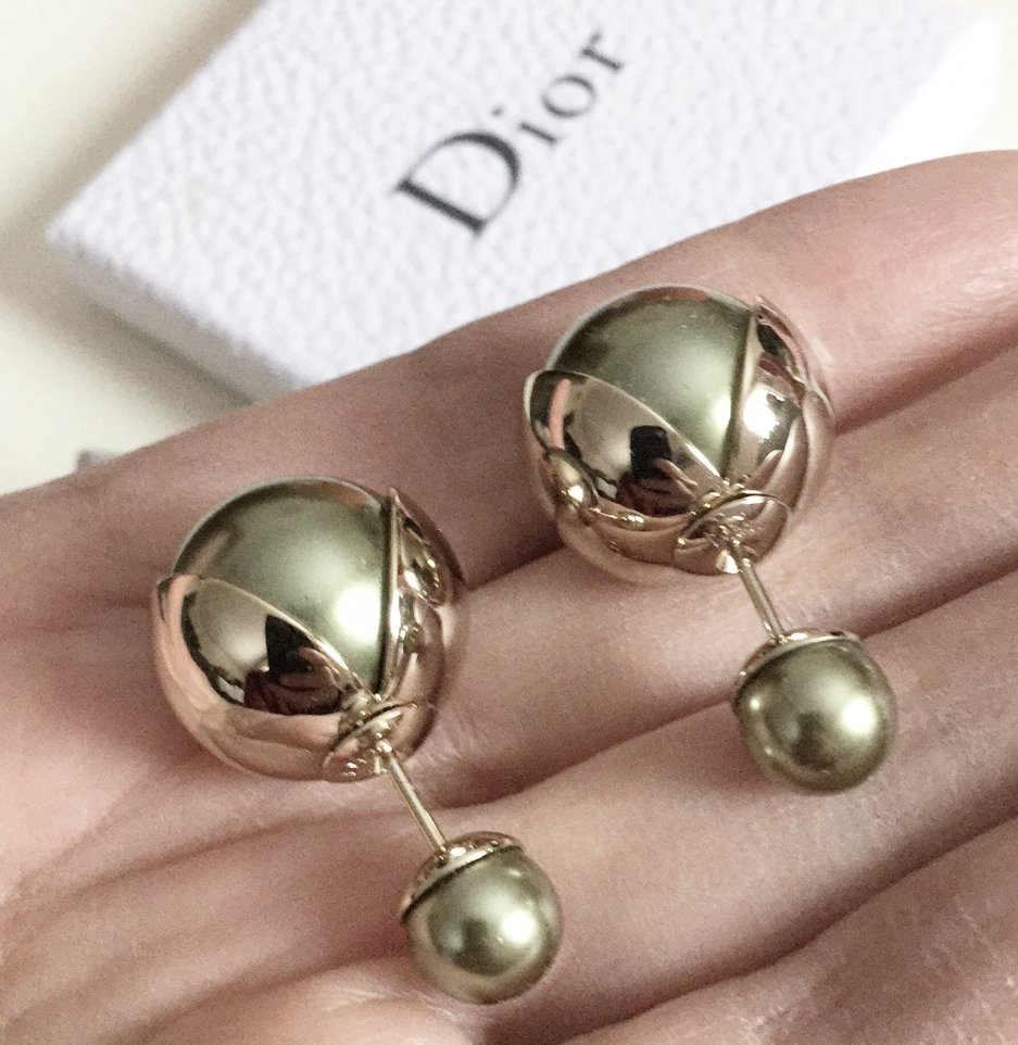 a48085a056e166 DIOR TRIBALE Mise en Dior TRIBAL Earrings GREEN TULIP SOLD-OUT!