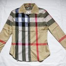 BURBERRY LONDON NOVA CHECK Women Shirt Made in England Size S Authentic NWT!