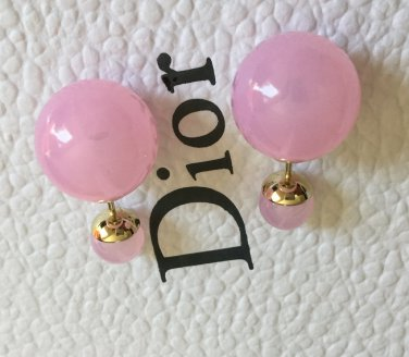 c1047249483 DIOR TRIBALE Mise en Dior TRIBAL Earrings BABY PINK CRYSTAL Rare!