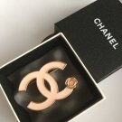CHANEL Enamel Pale Pink CC Camellia Fashion Brooch Pin 2013 Classic