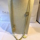 CHANEL 100 Anniversary Gold Metal Medal Coin CC Double Chain Necklace NIB
