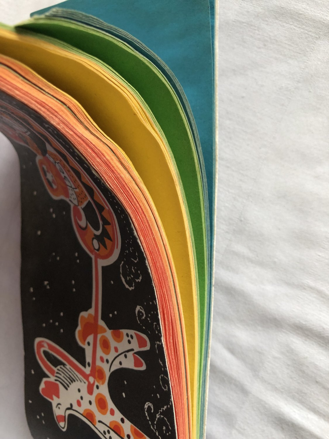 Set of colored paper collectible vintage 1965 USSR Rare