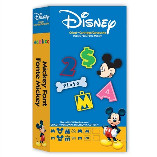 Disney Mickey Font Cartridge for Cricut Expression & CriCut Personal Cutter