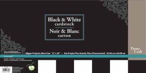 CriCut Blacks & Whites 12x24 Card Stock