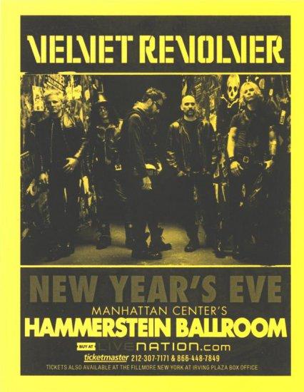 5 Velvet Revolver 2007 New Years Eve Flyers
