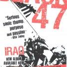 5 Black 47 Album Promotion Handbills