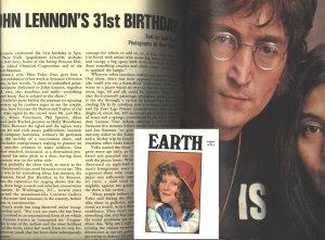John Lennon - Earth Magazine - Beatles