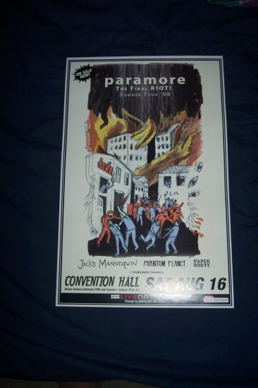 "Paramore ""The Last Riot"" Tour Poster"