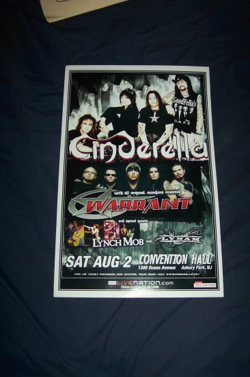 Cinderella and Warrant Tour Poster
