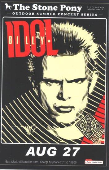 5 Billy Idol Handbills