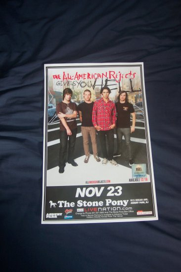 The All American Rejects Tour Poster