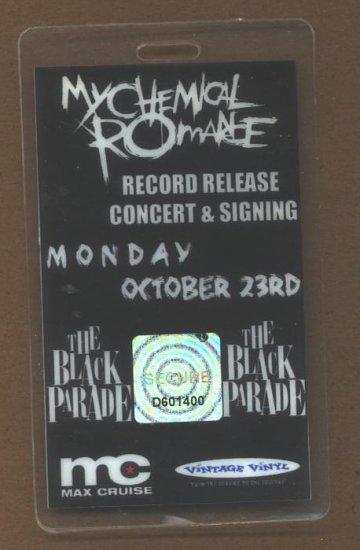 My Chemical Romance Backstage Pass