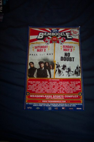 No Doubt Fall Out Boy Festival Poster