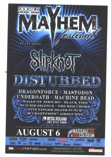 5 Slipknot Disturbed Tour Handbills