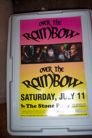 Rainbow Over The Rainbow Concert Poster Blackmore Dio