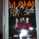 Def Leppard Poison Cheap Trick Concert Poster