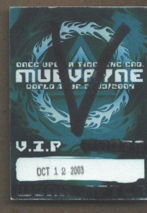Mudvayne VIP Pass
