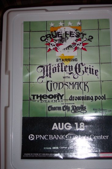 Motley Crue Drowning Pool Godsmack Theory of a Deadman Tour Poster