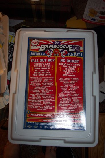 Fall Out Boy No Doubt Thrid Eye Blind Sum 41 Get Up Kids Concert Poster