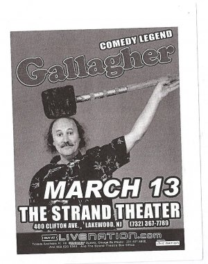 5 Gallagher Comedy Legend Tour Flyers