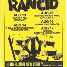 3 Rancid Concert Flyers