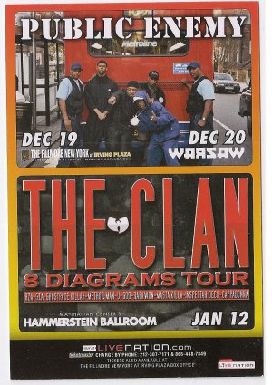 3 Public Enemy Wu Tang Clan Concert Handbills