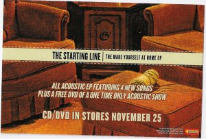 3 The Starting Line Album Handbills