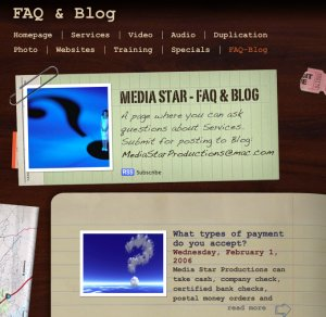 Blog Page with RSS Feed