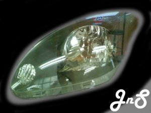 Perodua Myvi Head Lamp - Crystal / Black / 0 CCFL / Reflactor