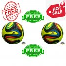 ADIDAS BRAZUCA FOOTBALL World Cup 2014 SOCCER Match Thermal Bonded Ball Size 5