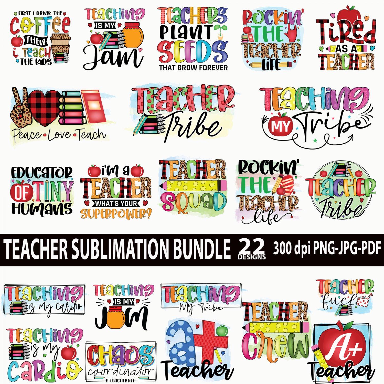 Teacher Sublimation Bundle, Teacher Quotes, Teacher Life Bundle, Teaching shirt PNG design