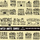 Witch Quotes Bundle SVG | 30 Designs