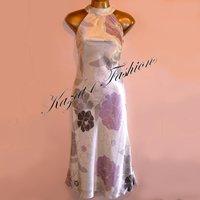 Principles Pure Silk Cream Print Dress Size UK 18, US 16