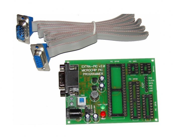 Microchip PIC Programmer EXTRA-PIC v2.0 with cable