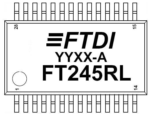 2pcs. FT245RL USB parallel FIFO IC FTDI SSOP28