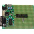 PIC Microchip PIC-P28 prototype board with components - ICD2, PICkit2, JDM...