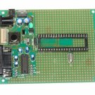 PIC Microchip PIC-P40 prototype board with components - ICD2, PICkit2, JDM...