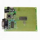 PIC Microchip PIC-P18 prototype board with components - ICD2, PICkit2, JDM...
