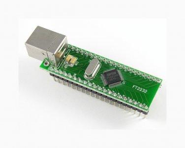 FT2232 USB DIP module FTDI: DUAL UART, FIFO (FT2232D)