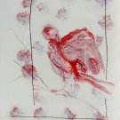 Christmas Birds 1 - original painting - 29x21 cm