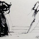 The Spooks 3 - original surrealist drawing - 22x15 cm