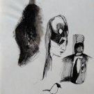 The Spooks 4 - original surrealist drawing - 21x15 cm