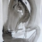 The Spooks 7 - original surrealist drawing - 32x24 cm
