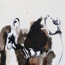 The Spooks 10 - original surrealist drawing - 24x16 cm