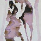 The Spooks 12 - original surrealist drawing - 24x16 cm