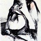 The Spooks 17 - original surrealist drawing - 24x16 cm