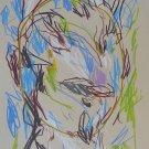 #52 - The Face - original drawing 29x21 cm